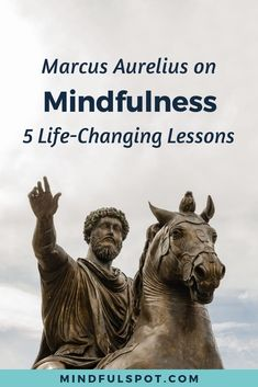 Want to know what Marcus Aurelius can teach you about mindfulness? Click through to read reflections on 5 life-changing Marcus Aurelius quotes. Guided Mindfulness Meditation, Mindfulness For Beginners, Mindfulness Books, Benefits Of Mindfulness, Meditation Books, What Is Mindfulness, Mindfulness Techniques, Meditation Videos, Mindfulness Exercises