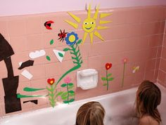 Filth Wizardry: Craft foam bath murals