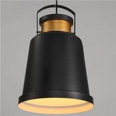11'' W Matte Black Single Light Cone Indoor  Industrial Pendant Light