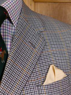 0502/500 vintage savile row bespoke gun club check wool sports jacket – Savvy Row