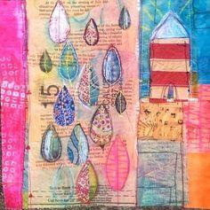 Rain, Diana Trout  - Diana Trout #Art journal #paint