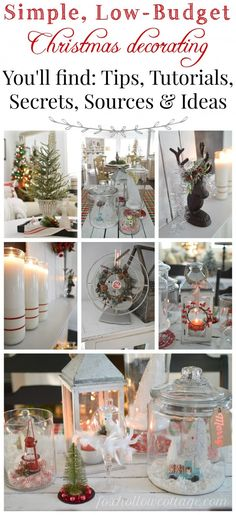 How To Christmas Decorate Cheaply – My Budget Breakdown Simple Low Budget Christmas Decorating - tips tutorials secrets sources and ideas - foxhollowcottage Christmas On A Budget, Noel Christmas, All Things Christmas, Winter Christmas, Vintage Christmas, Budget Holidays, Christmas Music, Christmas Ornaments, Christmas Projects