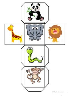 English ESL worksheets for home learning and physical classrooms Cute Animals List, Wild Animals List, Wild Animals Pictures, Cute Animal Pictures, Cute Baby Animals, Cutest Animals, Funny Animals, Animal Activities For Kids, English Activities