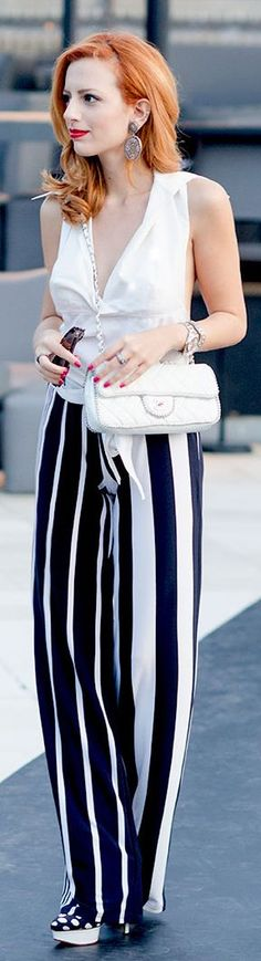 Life In Mono by Not Your Average Style Fix = I would love this if it were a floaty skirt rather than pants.