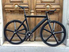 Leader 735 Matt black aerospoke wheels , fixie , Fixed gear