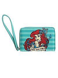 HOTTOPIC.COM - Disney The Little Mermaid Kiss The Girl Zipper Wallet