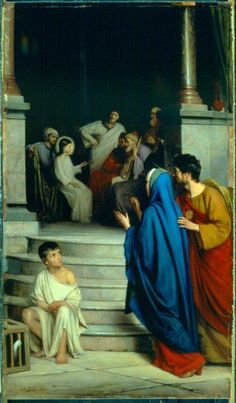 Joyful -The finding of the Child Jesus in the temple. Carl Bloch