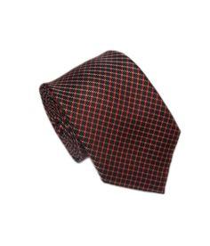 American Crew Men's Necktie Black Squares Puremicro