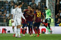 El Clásico classics: the best of Real Madrid v Barcelona:     Real Madrid 3‐4 Barcelona ﴾2014﴿:   Billed as the Messi‐Neymar vs Ronaldo‐Bale contest, the 2014 Clásico at the Santiago Bernabeu resulted in a thrilling 4‐3 win for the away side. Karim Benzema scored twice to give Real Madrid the lead after Andrés Iniesta opened the scoring in the seventh minute.   More...