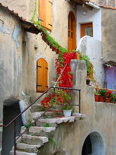 Home Entrance in the City of Baska on the Isle of Krk in Croatia.