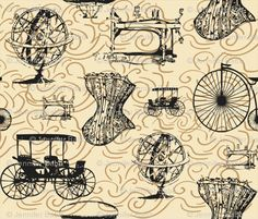 """Vote in Spoonflower's current fabric contest --> """"outdated technology"""".   This is my favorite!"""