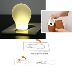 Limited Price of Wallet Light Novelty Lighting Portable Mini LED Card Pocket Light Bulb Lamp Credit Card Size Home Accessories in Oxnard If . Light Bulb Lamp, Led Lamp, Novelty Lighting, Pocket Light, Emergency Lighting, Led Night Light, Card Sizes, Home Accessories, Lighting Accessories