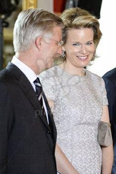 King Philippe and Queen Mathilde of Belgium of Belgium 4/4/2014