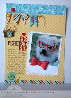 This fun layout used products from the Day To Day collection by Doodlebug. Designed by Sherry Cartwright.