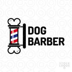 dog barber stock logo