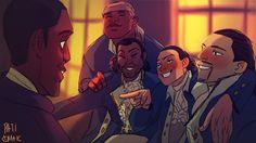 The animated antics of the Revolutionary Bros?