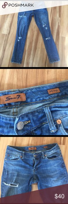 Seven 7 skinny jeans size 29 Excellent condition, only worn twice. Very clean. They have a 30 inch inseam Seven7 Jeans Skinny