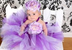 purple babies | ... Rose Garden Tutu Dress in Lilac and Purple, Baby Tutu, Inf