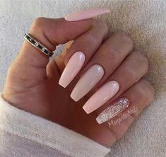 [ long nails Trendy Nail Art Ideas for Coffin Nails Hot Nails, Hair And Nails, Trendy Nail Art, Manicure E Pedicure, Nagel Gel, Super Nails, Gorgeous Nails, Perfect Nails, Nails On Fleek