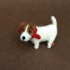 Micro Miniature Jack Russell Terrier. Mini bear. Tiny dog