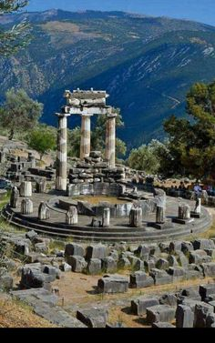 Tholos temple  Delphi  Greece
