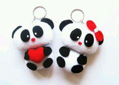 Felt pandas (: