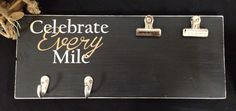 Celebrate every mile race bib and medal holder.