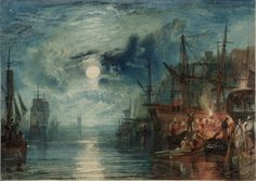 'Shields, on the River Tyne', Joseph Mallord William Turner, 1823 | Tate