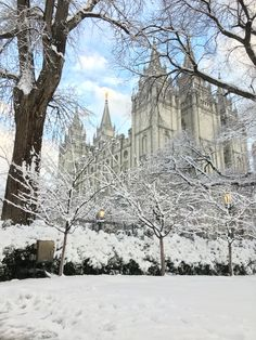 Salt LakeTemple in Winter