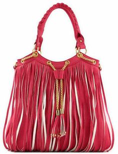 WESTERN FRINGE HANDBAG PURSE CONCEALED WEAPON CROSSBODY MESSENGER BAG FUCHSIA
