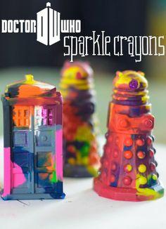 Doctor Who Sparkle Crayons - Hallecake