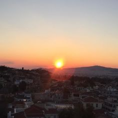 The Sunset (taken from the rooftop of Electra P. Hotel), Athens, Greece, 28…