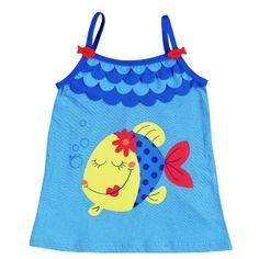 Girls Beach Dress - Bóboli Colors Under The Sea www.kidsandchic.com/girls-beach-dress-boboli-colors-under-the-sea.html  #boboli #girlsclothing #girlsfashion #kidsfashion #kidsclothing #trendychildren #babyclothes #toddlerclothes #shoponline #shoppingbarcelona #girls #ss2014 #summer #ropaniñas #vestido #niña #dress #girlsdress #babydress #sundress