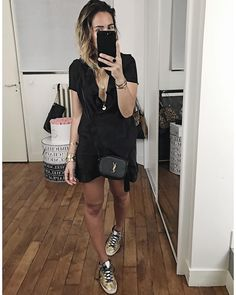 "2,646 mentions J'aime, 28 commentaires - Audrey Lombard (@audreylombard) sur Instagram : ""Une robe et c'est Tout  • Robe ""Carla"" #sezane (from'@sezane) • Sneakers #goldengoose (from…"""