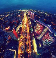 Ночной Новый Арбат с квадрокоптера – IMG! Картинки из интернета
