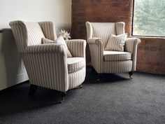 A couple of antique chairs we recilovered in Osborne & Little fabric