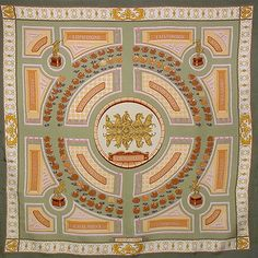 luxury-scarves.com  Les Jardines de Versailles , Christiane Vauzelles. 9aab7763959
