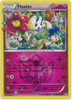 Floette RC18/RC32 Pokemon TCG: Generations Radiant Collection, Holo Pokemon Card
