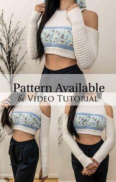 Mode Crochet, Crochet Beret, Crochet Shirt, Crochet Crop Top, Basic Crochet Stitches, Crochet Blanket Patterns, Crochet Patterns Free Women, Unique Crochet, Beautiful Crochet