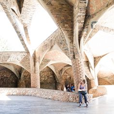 Image 3 of 13 from gallery of AD Classics: Colònia Güell / Antoni Gaudí. Photograph by Samuel Ludwig Great Buildings And Structures, Modern Buildings, Modern Architecture, Antonio Gaudi, Dubai Skyscraper, Alicante Spain, Budapest Hungary, Taj Mahal, Around The Worlds