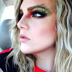 Forest Fire | Sephora Beauty Board #Eyes #Drama #Beauty #Green #Gold #Red #Glitter