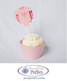 Tickled pink baby shower cupcakes! By Piece of Cake Parties. Charming. Effortless. Affordable.
