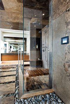 Дизайн ванной комнаты: идеи отделки камнем, фото / Natural stone bathroom design