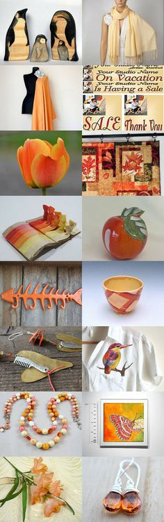 Peachy Summer Love! by RingBearerPillow on Etsy--Pinned with TreasuryPin.com