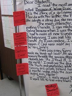 Readers response-modeling letters...great!!!