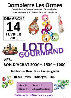 Loto gourmand de Dompierre-les-Ormes le 14 février 2016 : http://clun.yt/1opfqhI