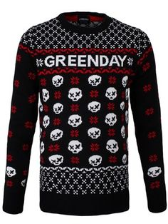 From Guns N' Roses to Ryan Adams, we takes a look at 12 of the best band Christmas jumpers from holidays past and present. Mens Christmas Jumper, Christmas Jumpers, Christmas Sweaters, Sweater Fashion, Sweater Outfits, Rock Style, My Style, Band Outfits, Scene Outfits