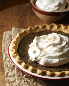 Maple Sugar Pie, a Minnesota recipe.