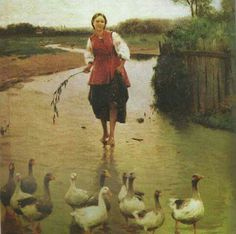 Mykola Pymonenko Image For Heart, Ukraine Women, Ukrainian Art, Great Paintings, Art Icon, Insta Art, Art Images, Cool Art, Street Art