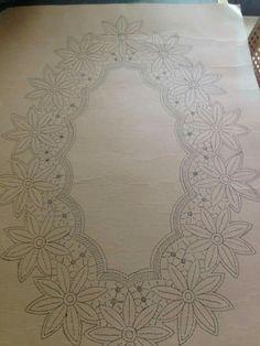 Cutwork Embroidery, Iron On Embroidery, Embroidery Transfers, Embroidery Stitches, Embroidery Patterns, Crochet Flower Tutorial, Crochet Flowers, Crochet Lace, Applique Towels